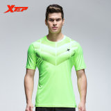 Cara Beli Xtep Men S Breathable Quick Dry Soccer Tshirts Running Sports Shirt O Neckfitness Short Sleeve Male Shirt Green Intl