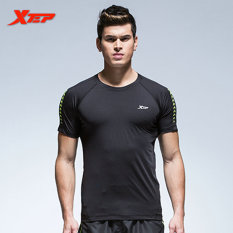 Jual Xtep Pendek Fesyen Pria Lengan Ketat T Shirt Pakaian Sporting Musim Panas Fashion Solid Base T Kemeja Pria S Binaraga Tops Hitam Intl Online