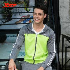 Diskon Xtep Mens Sport Jaket With Hooded Athletic Cocok Untuk Pria Menjalankan T Shirt Fitness Cepat Kering Sport Bersumpah Pakaian Hijau Intl