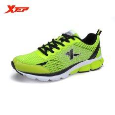 Promo Xtep Pria Sepatu Olahraga Sepatu Lari Atletik Hijau Xtep
