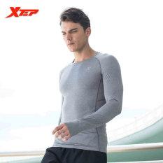 Jual Beli Xtep Kaus Lari Untuk Pria Panjang Leher O Lengan Bernapas Cepat Kering Jersey Olahraga Kompresi Kebugaran Kemeja Pria Abu Abu Intl Indonesia