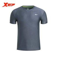 Jual Xtep Quarter T Shirt Pria For Kemeja Kebugaran Berlatih Yang Nyaman Abu Abu Xtep Asli