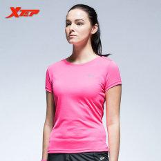 Toko Xtep Women Workout T Shirt Elastis Bernapas Baju Fitness Pink Intl Lengkap Di Indonesia
