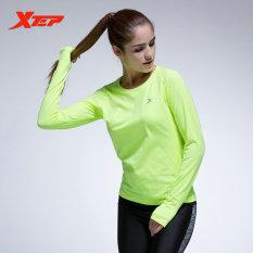 Beli Xtep Wanita Panjang Lengan Baju Lari Tops Kompresi Tights Kaus Yoga Sportswear Fitness Workout Cepat Kering Bernapas Ladies Kemeja Pria Green Intl Secara Angsuran