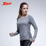 Xtep Wanita Lengan Panjang Atasan Kemeja Kompresi Tights Kaos Pakaian Olahraga Yoga Latihan Kebugaran Cepat Kering Bernapas Ladies Kemeja Grey Intl Xtep Diskon
