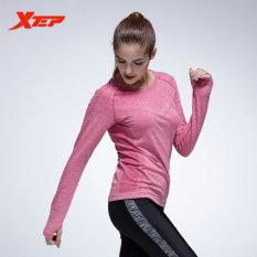 Jual Xtep Wanita Panjang Lengan Baju Lari Tops Kompresi Tights Kaus Yoga Sportswear Fitness Workout Cepat Kering Bernapas Ladies Ungu Intl Baru