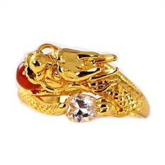 Jual Xuping Sj0902 Cincin Red Ruby 18K Gold Plated Emas Baru