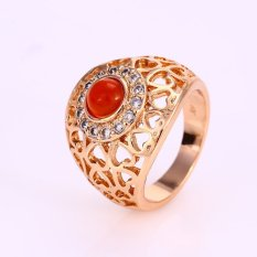 Diskon Xuping Sj0942 Cincin 18K Gold Plated Xuping