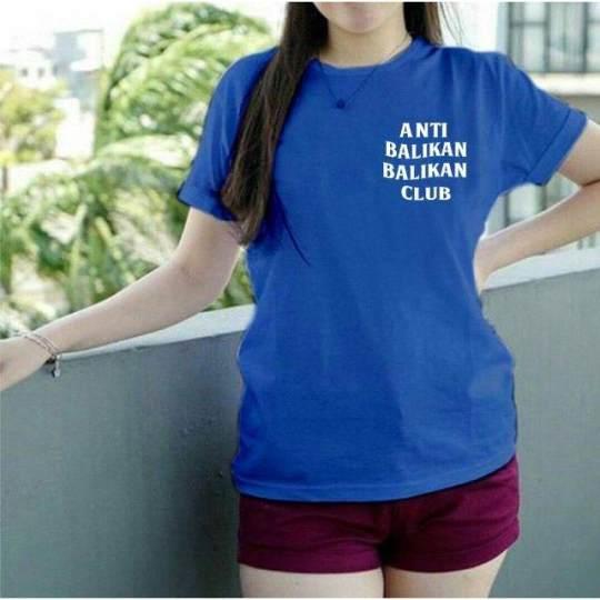 XV Kaos Wanita Tee / T-shirt Distro Wanita Anti Balikan Club / Baju Atasan