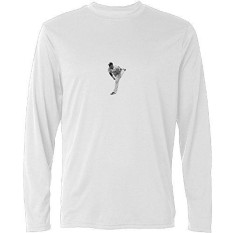 Y-CAXY Pria Jose Fernandez Rip Lengan Panjang T Kaus-Internasional