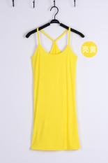 Review Toko Y Modal Musim Semi Dan Musim Panas Memanfaatkan Rompi Tas Pinggul Gaun Y Kata Panjang Suspender Terang Kuning Online