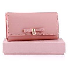 Spesifikasi Yadas Cute Ribbon Dompet Wanita Lipat 3 Pink Dan Harganya