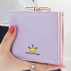 YADAS Jepang dan Korea Selatan perempuan catok Mini nol dompet yang baru dompet wanita (Ungu) (Ungu)