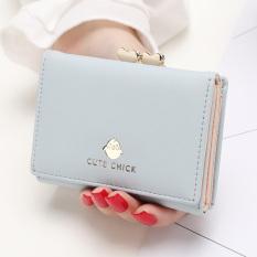 YADAS Dompet Kecil Wanita Dompet Kartu Korea Fashion Style Perempuan Baru (Biru-anak ayam)
