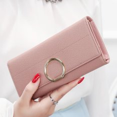 YADAS New Wallet Female Long Paragraph of the Korean Version of the New Fresh Leather Ball Wallet Wallet Student Qian Jia (Pink)