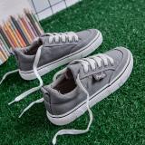Beli Ulzzang Korea Fashion Style Siswa Sepatu Baru Sepatu Kanvas Abu Abu Secara Angsuran