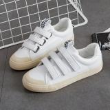 Penawaran Istimewa Yang Chic Korea Fashion Style Kulit Perempuan Baru Kanvas Sepatu Sepatu Kets Putih Putih Sepatu Wanita Sepatu Sport Sepatu Sneakers Wanita Terbaru