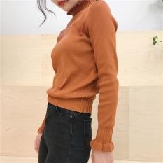 Beli Yang Chic Korea Fashion Style Musim Gugur Baru Perempuan Atasan Kemeja Rajut Kopi Warna Baju Wanita Baju Atasan Other Asli