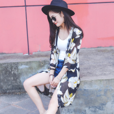Baju Pelindung Terik Matahari Wanita Lengan 3/4 Model Setengah Panjang Aneka Warna Sifon (Segar Lily (ledakan model))