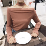 Spesifikasi Yang Chic Retro Warna Solid Halter Neck Strapless Atasan Baju Dalaman Gelap Merah Muda Baju Wanita Baju Atasan Kemeja Wanita Bagus