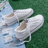 Jual Sepatu Kanvas Wanita Gaya Korea Putih Putih Tiongkok