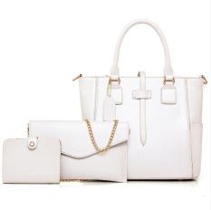 YANXI Toko Online FASHION LADY Tote Shoulder Hari Clutches Desain Hitam Dompet dan Casing Kulit Wanita Komposit Berkualitas Bag- INTL