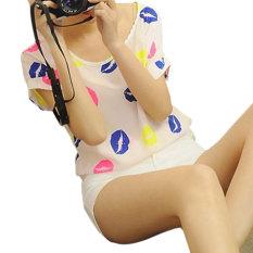 Spesifikasi Ybc Fashion Women Short Sleeved Chiffon Blouse Loose Shirt Intl Yang Bagus