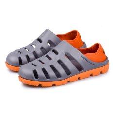 Kamu 1307_O Men's Leisure Berkualitas Tinggi dan Lunak Yg Dpt Dipakai Leisure Harian Lubang Sepatu (Oranye)-Intl