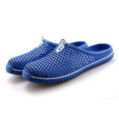 Kamu 5566_NB Wanita Fashion Sederhana Nyaman Pemuda Leisure Lubang Sepatu (Navy Blue)-Intl