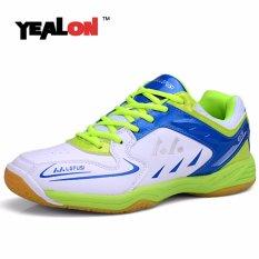 YEALON Bulutangkis Sepatu untuk Pria Sepatu Pria Bulutangkis Pelatihan Keras Anti Licin Light Sneakers Sport Cushion- INTL