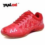 Beli Yealon Badminton Shoes For Men Man Shoes Badminton Women Training Hard Wearing Anti Slippery Light Sneakers Sport Cushion 36 45 Red Intl Yealon Online