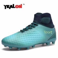 YEALON Football Boots Pria Sepatu Sepak Bola dengan Sock Boots Spike Futsal Cleat Chuteiras Superfly FG Anak-anak Sepatu Sepak Bola Anak-anak Gras -Intl