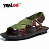 Harga Yealon Asli Sandal Kulit Pria Musim Panas Pantai Sepatu Sandal Pria Sandal Sandal Untuk Me Intl Murah