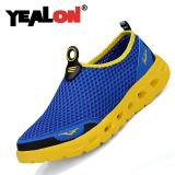 Jual Yealon Pria Mesh Bernapas Olahraga Sepatu Kasual Sepatu Lari Biru Intl Yealon Murah