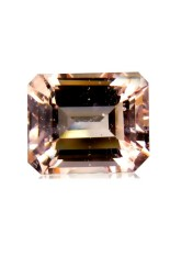 YenzShop MG101 HKD Certified Octagon 1.94ct 8x6.7x4.6mm Natural Orangy Pink Morganite Brazil
