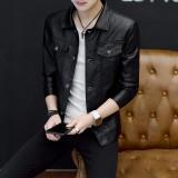 Spesifikasi Yf Jaket Kasual Pria Fashion Kulit Jaket Plus Ukuran M 4Xl Intl