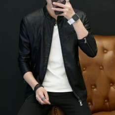 Spesifikasi Yf Jaket Kasual Pria Fashion Kulit Jaket Plus Ukuran M 4Xl Intl Terbaik