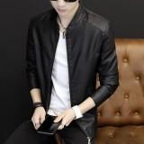 Toko Yf Jaket Kasual Pria Fashion Kulit Jaket Ukuran M 3Xl Intl Termurah Di Tiongkok