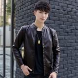 Beli Yf Jaket Kasual Pria Fashion Kulit Jaket Ukuran M 3Xl Intl Murah Tiongkok