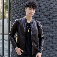 Diskon Yf Jaket Kasual Pria Fashion Kulit Jaket Ukuran M 3Xl Intl Branded