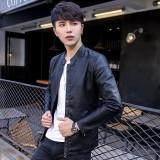 Yf Jaket Kasual Pria Fashion Kulit Jaket Ukuran M 3Xl Intl Diskon Tiongkok