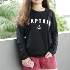 YGTSHIRT - Tshirt CAPTAIN Lengan Panjang Longsleeve Cewek / Kaos Wanita / Tshirt Cewe Cotton Combed Kaos Cewek