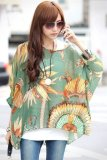 Spesifikasi Yidabo Wanita Lady Bohemian Gaya Batwing Lengan Chiffon Beach Loose Shirt Blouse Tops Not Specified Terbaru