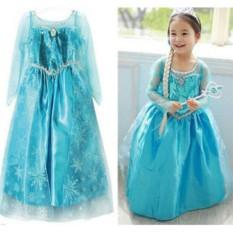Yika Gadis Elsa Ratu Gaun Putri Kostum Cosplay Pesta Kostum 2-8Y-Intl