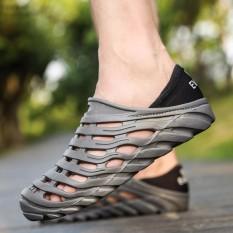 Spesifikasi Yika Hot Dijual Pria Olahraga Musim Panas Pijat Menyumbat Sepatu Slip On Beach Perahu Karet Sepatu Intl Bagus