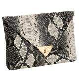 Review Pada Yika Wanita S Snake Skin Envelope Clutch Bag Multicolor Intl