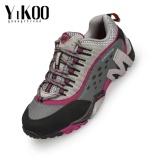 Review Yikoo Pria Dan Wanita Kulit Sapi Petualangan Outdoor Hiking Sepatu Anti Tabrakan Waterproof Trail Climbing Mountain Sport Sneakers Untuk Mountaineer Hunter Merah Intl