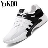 Jual Yikoo Pria Fashion Sepatu Sepatu Bernapas Santai Berjalan Sepatu Olahraga Black White Intl Yikoo Ori