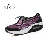 Beli Yikoo Women Fashion Wedge Sneakers Bernapas Kebugaran Sport Sepatu Merah Gradient Warna Intl Yikoo Dengan Harga Terjangkau