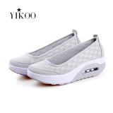 Perbandingan Harga Yikoo Women Fashion Wedge Sneakers Breathable Olahraga Shoes Grey Intl Di Tiongkok
